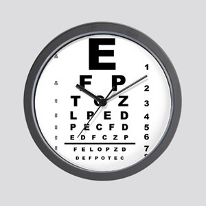 Eye Test Chart Wall Clock