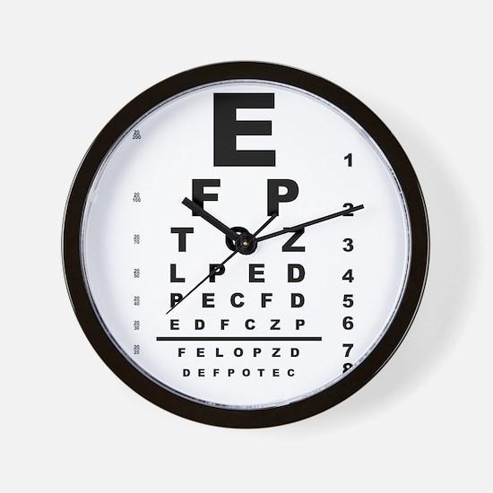 Eye Test Chart Wall Clock