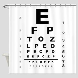 Eye Test Chart Shower Curtain