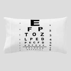 Eye Test Chart Pillow Case