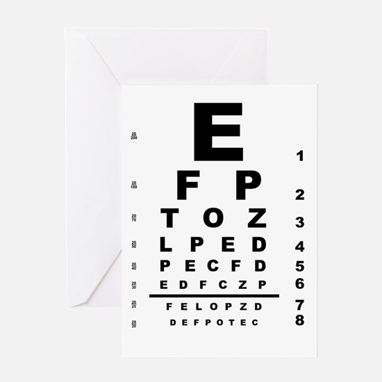 Eye Test Chart Greeting Cards