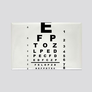Eye Test Chart Magnets