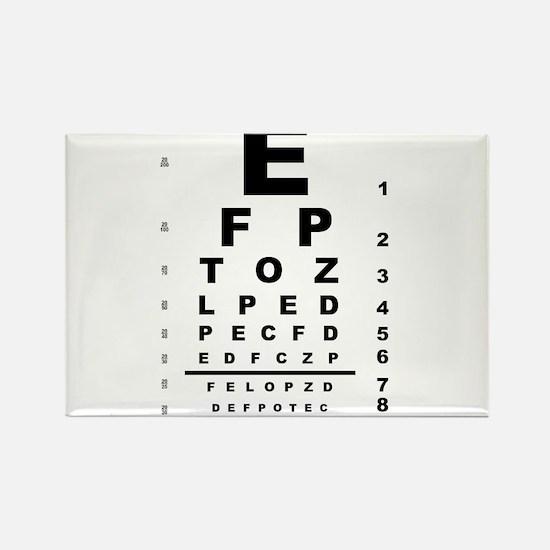 Eye Test Chart Magnets