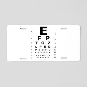 Eye Test Chart Aluminum License Plate