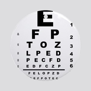 Eye Test Chart Round Ornament