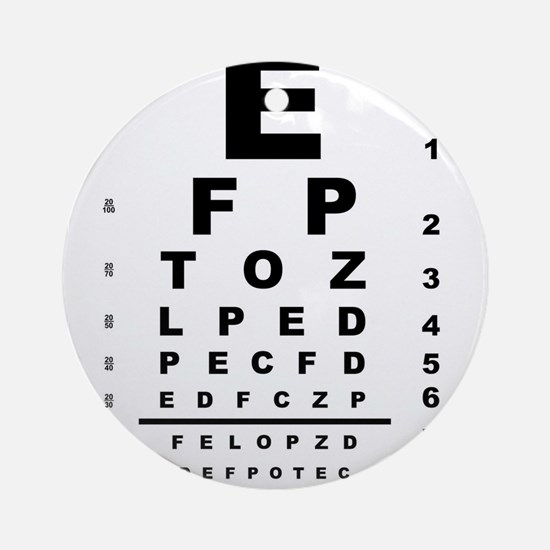 Eye Test Chart Round Ornament