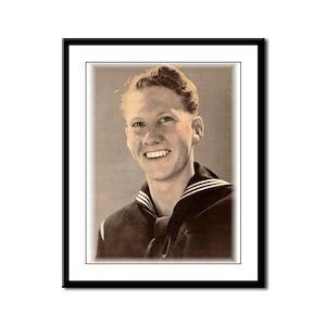 Charles jr. WWII Sailor Framed Panel Print