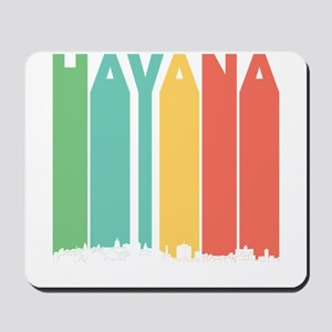 Retro Havana Cuba Skyline Mousepad