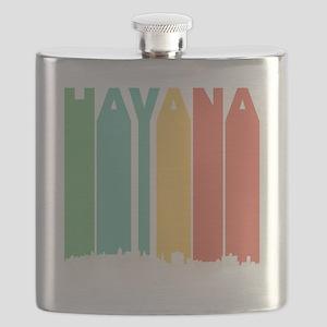 Retro Havana Cuba Skyline Flask