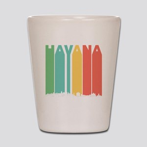 Retro Havana Cuba Skyline Shot Glass