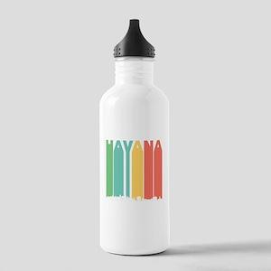 Retro Havana Cuba Skyline Water Bottle