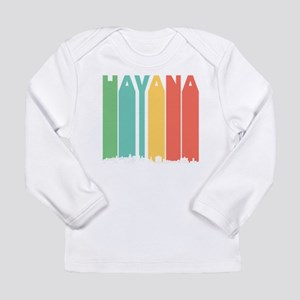 Retro Havana Cuba Skyline Long Sleeve T-Shirt