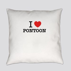 I Love PONTOON Everyday Pillow
