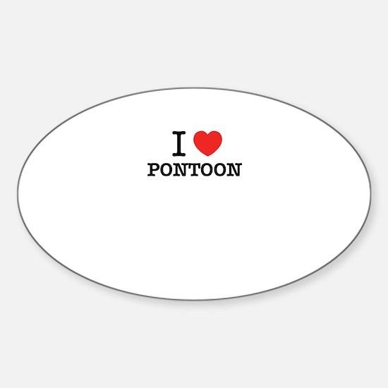 I Love PONTOON Decal