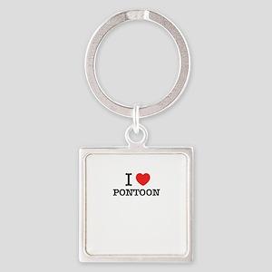 I Love PONTOON Keychains