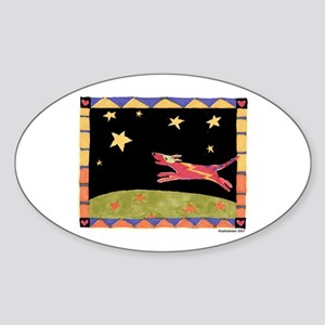 Star Dog Oval Sticker