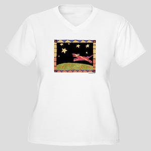 Star Dog Women's Plus Size V-Neck T-Shirt