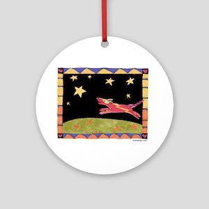 Star Dog Ornament (Round)