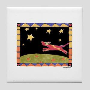 Star Dog Tile Coaster