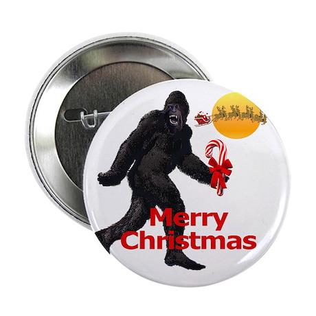 "Bigfoot believes in Santa Claus 2.25"" Button (10 p"