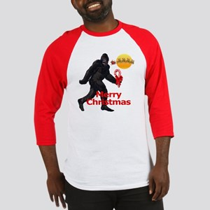 Bigfoot believes in Santa Claus Baseball Jersey