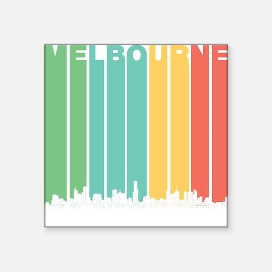 Retro Melbourne Australia Skyline Sticker