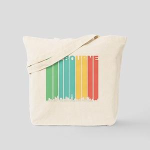 Retro Melbourne Australia Skyline Tote Bag