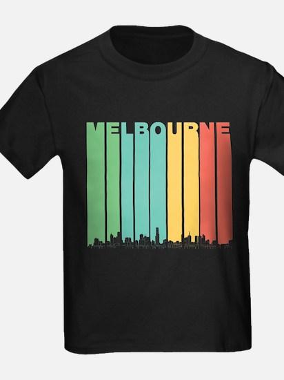 Retro Melbourne Australia Skyline T-Shirt