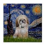 Starry / Shih Tzu (p) Tile Coaster