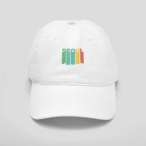 Retro Seoul South Korea Skyline Baseball Cap
