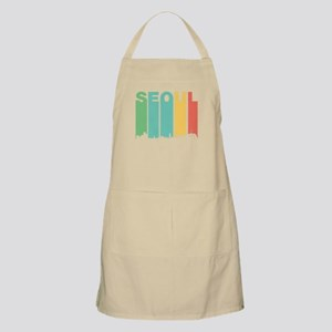 Retro Seoul South Korea Skyline Apron