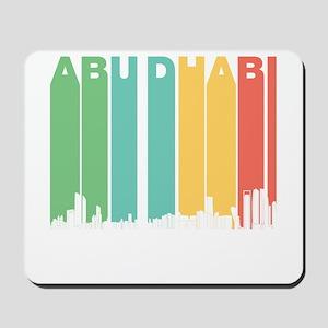 Retro Abu Dhabi Skyline Mousepad
