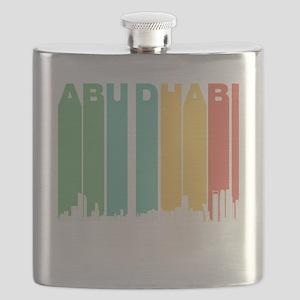 Retro Abu Dhabi Skyline Flask