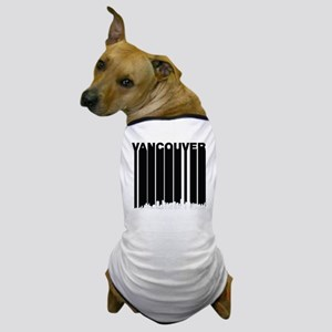 Retro Vancouver Canada Skyline Dog T-Shirt