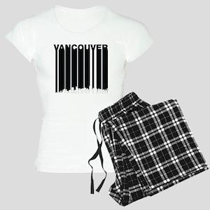Retro Vancouver Canada Skyline Pajamas
