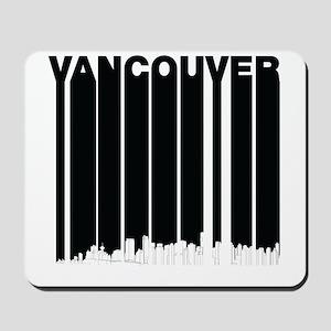 Retro Vancouver Canada Skyline Mousepad