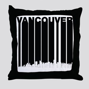 Retro Vancouver Canada Skyline Throw Pillow