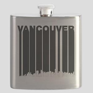 Retro Vancouver Canada Skyline Flask