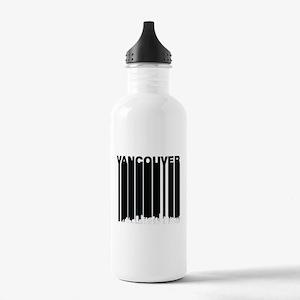 Retro Vancouver Canada Skyline Water Bottle