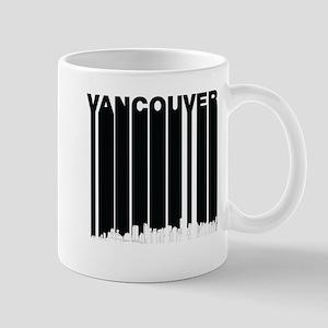 Retro Vancouver Canada Skyline Mugs