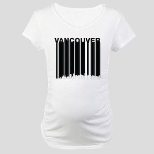 Retro Vancouver Canada Skyline Maternity T-Shirt