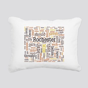 Jane Eyre Word Cloud Rectangular Canvas Pillow