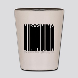 Retro Hiroshima Japan Skyline Shot Glass