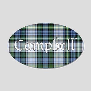 Tartan - Campbell dress 20x12 Oval Wall Decal