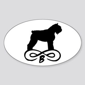 Bouvier Dog Infinity Oval Sticker