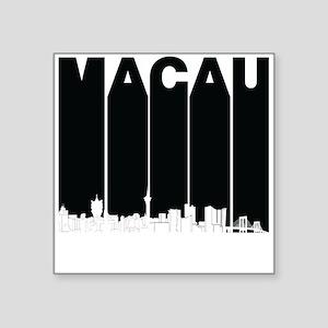 Retro Macau China Skyline Sticker