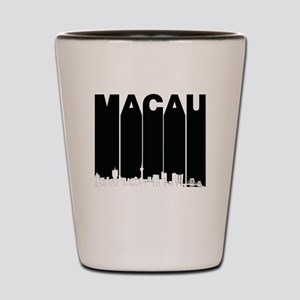 Retro Macau China Skyline Shot Glass
