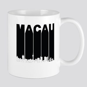 Retro Macau China Skyline Mugs