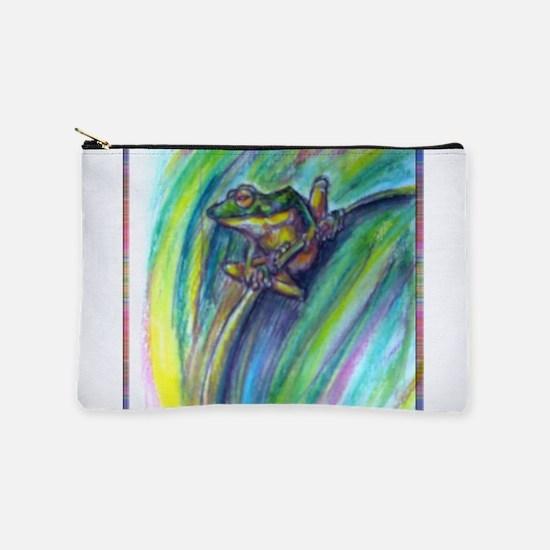 Tree frog! Wildlife art! Makeup Bag