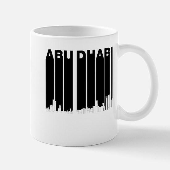 Retro Abu Dhabi Skyline Mugs